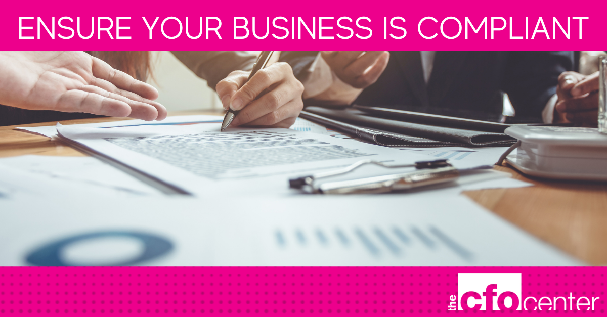 Ensure your business is compliant 1